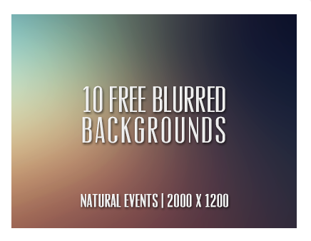 10 Free Blurred Backgrounds by Cat Smith