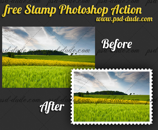 Stamp Generator Photoshop Action