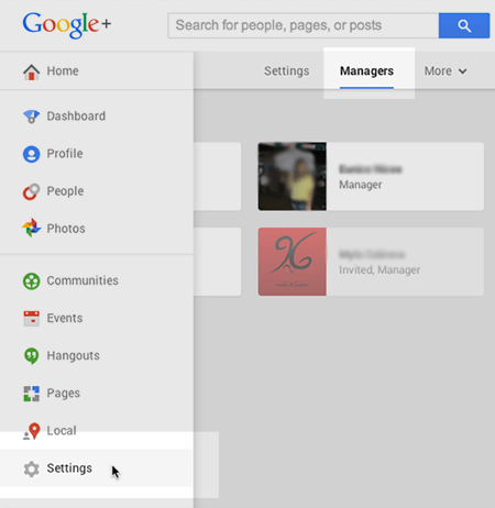 Additional Managers on Google Plus Business Page