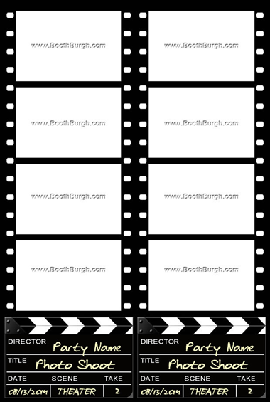 Filmstrip and Clapper Board
