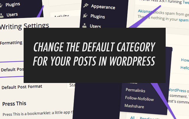 Change The Default Wordpress Post Category