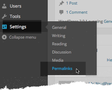Go to Settings and select permalinks