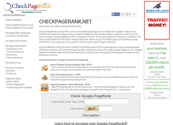 CheckPageRank