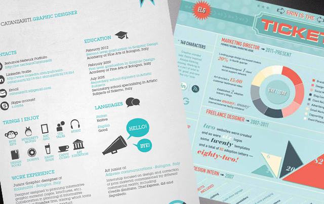 25 great  high quality and modern  examples of creative cv