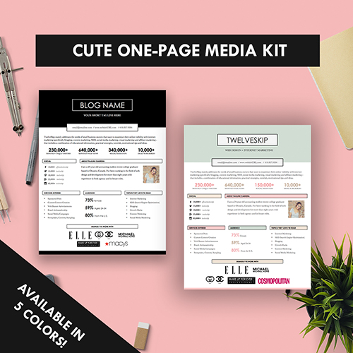 One-Page Media Kit Template