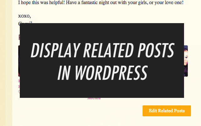 Displaying Related Posts in WordPress