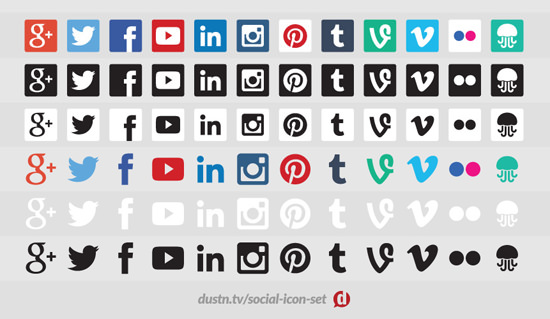 Dustn Social Media Icon Set