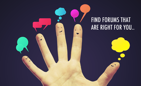 Find healthy forums related to your niche