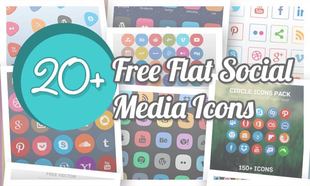 High-Quality Flat Social Media Icons