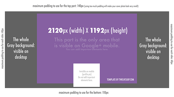 Google+ Cover Photo Dimensions