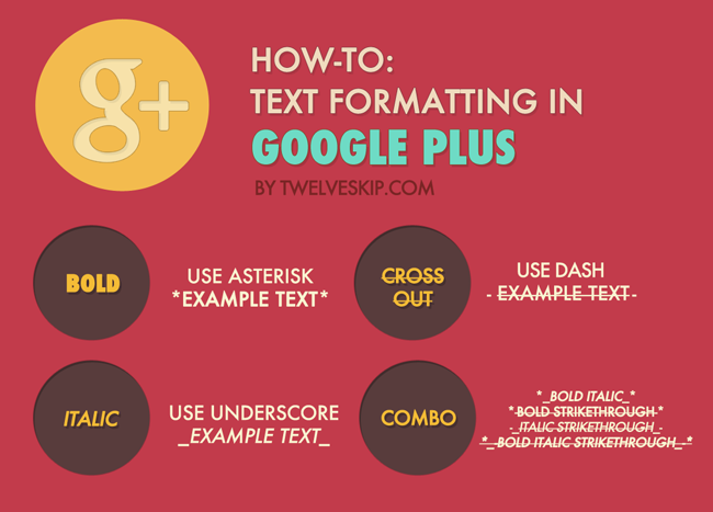 How-TO: Format Text in Google Plus Posts