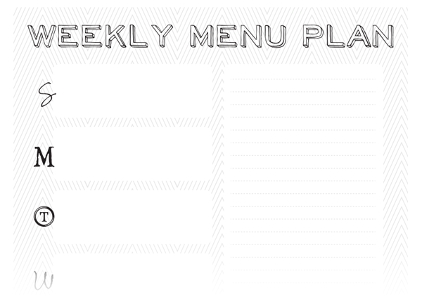 Black and White Weekly Printable Planner