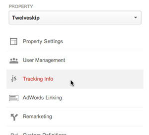 Click Tracking Info and Select Tracking Code