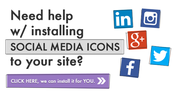 Social Media Icon Installation Service
