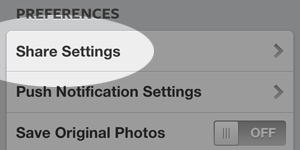 Share Settings