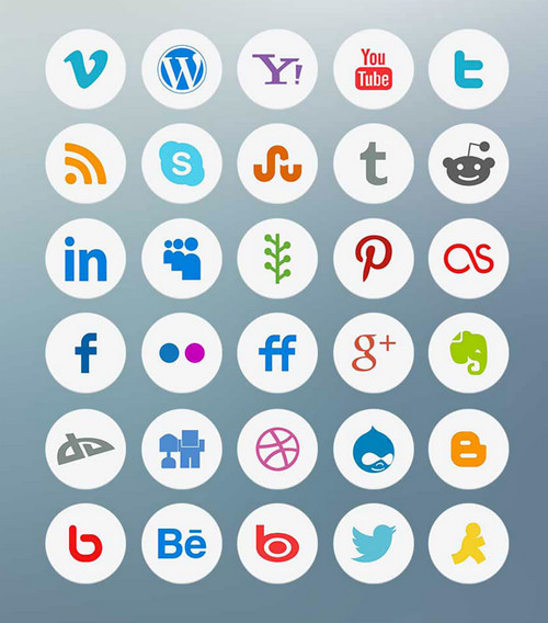 Light Social Icons