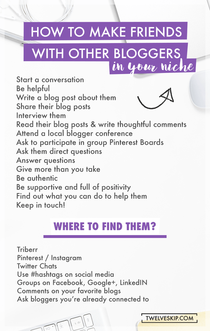 How To Make Blogging Friends AND Where to Find Them