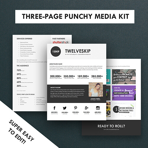 Three-Page Media Kit Template