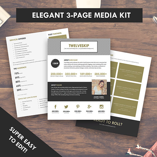 Gold Media Kit Template