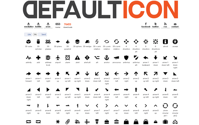 10+ mini website icons for free