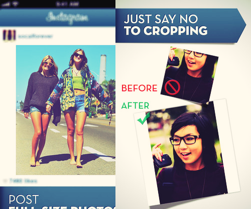 #Nocrop App for Apple and Android Users