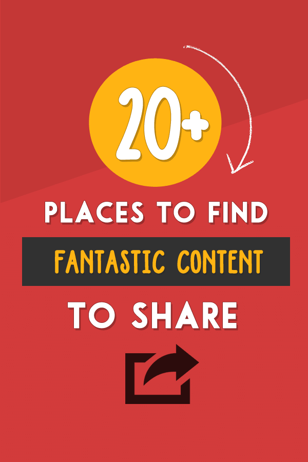 20+ Places to Find Great Content To Share With Your Audience @ http://www.twelveskip.com/marketing/social-media/1336/where-to-find-great-content-to-share