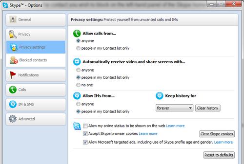 PrivacySet