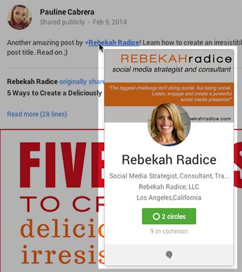 Rebekah Radice Thông tin