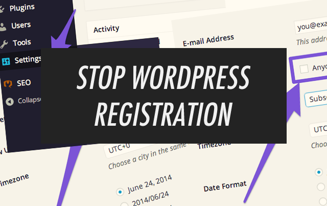 Prevent Wordpress Registration