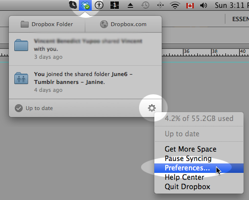 Click the Dropbox icon found on your desktop.