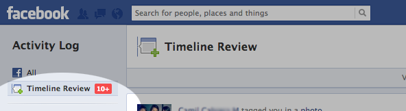 Click the Timeline review button at the upper left corner of your screen