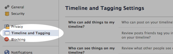Select Timeline and Tagging