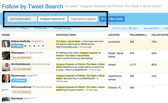 tweet search
