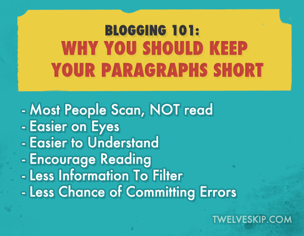 WHY YOU NEED TO USE Short Paragraphs on Your Blog Posts