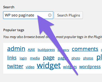 Search for WP SEO Paginate