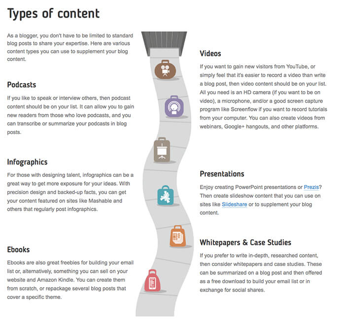 more content types