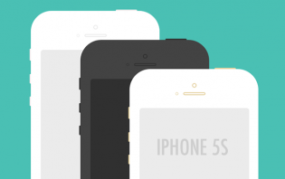 free iphone 5s psd mockups
