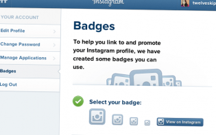 where to get official instagram badges?