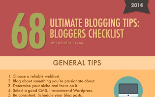 infographic tips before you start a blog
