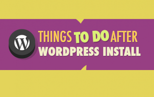 what to do after wordpress install