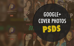 google plus cover photo psd template