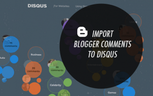 how to import blogger comments to disqus