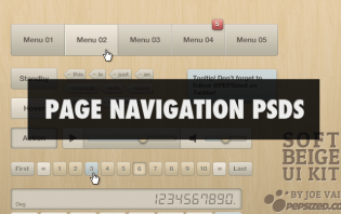19 free and awesome page navigation psds
