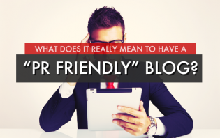 what does it mean to have pr friendly blog