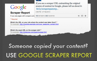 report scraping sites that ranks better than you to google