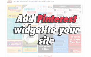how-to: add pinterest widget to your website