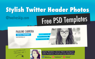 new twitter header psd templates