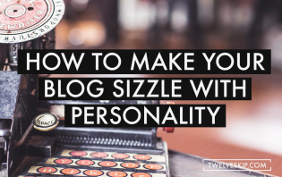 blog sizzle with personality