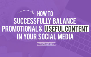 balance promotional useful content social media