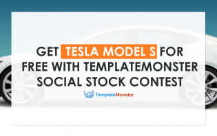 free tesla model s with templatemonster social stock contest